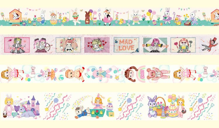★Only Two★24mm masking tape Mad Love