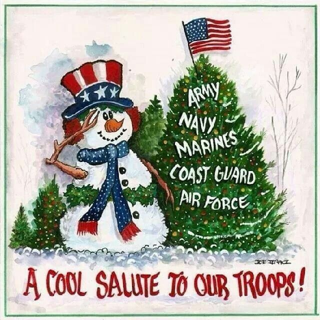 To All The Troops Overseas And Their Families Left At Home Thank You For Your Sacrifice Merr Patriotic Christmas Cards Patriotic Christmas Military Christmas