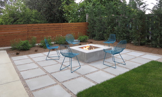 Captivating 24x24 Concrete Pavers Outdoor Fireplace