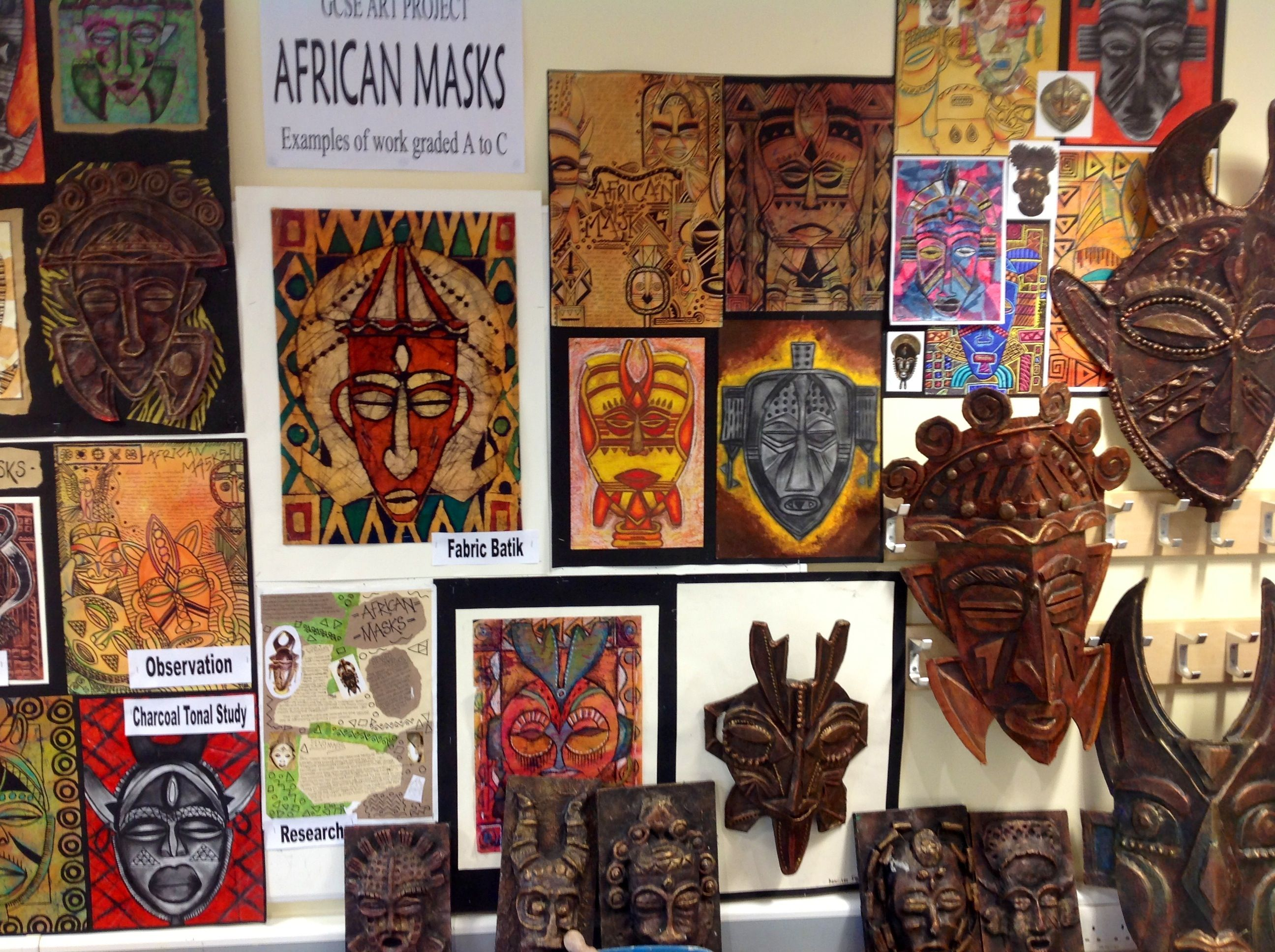 Gcse African Masks Project At Harrop Fold