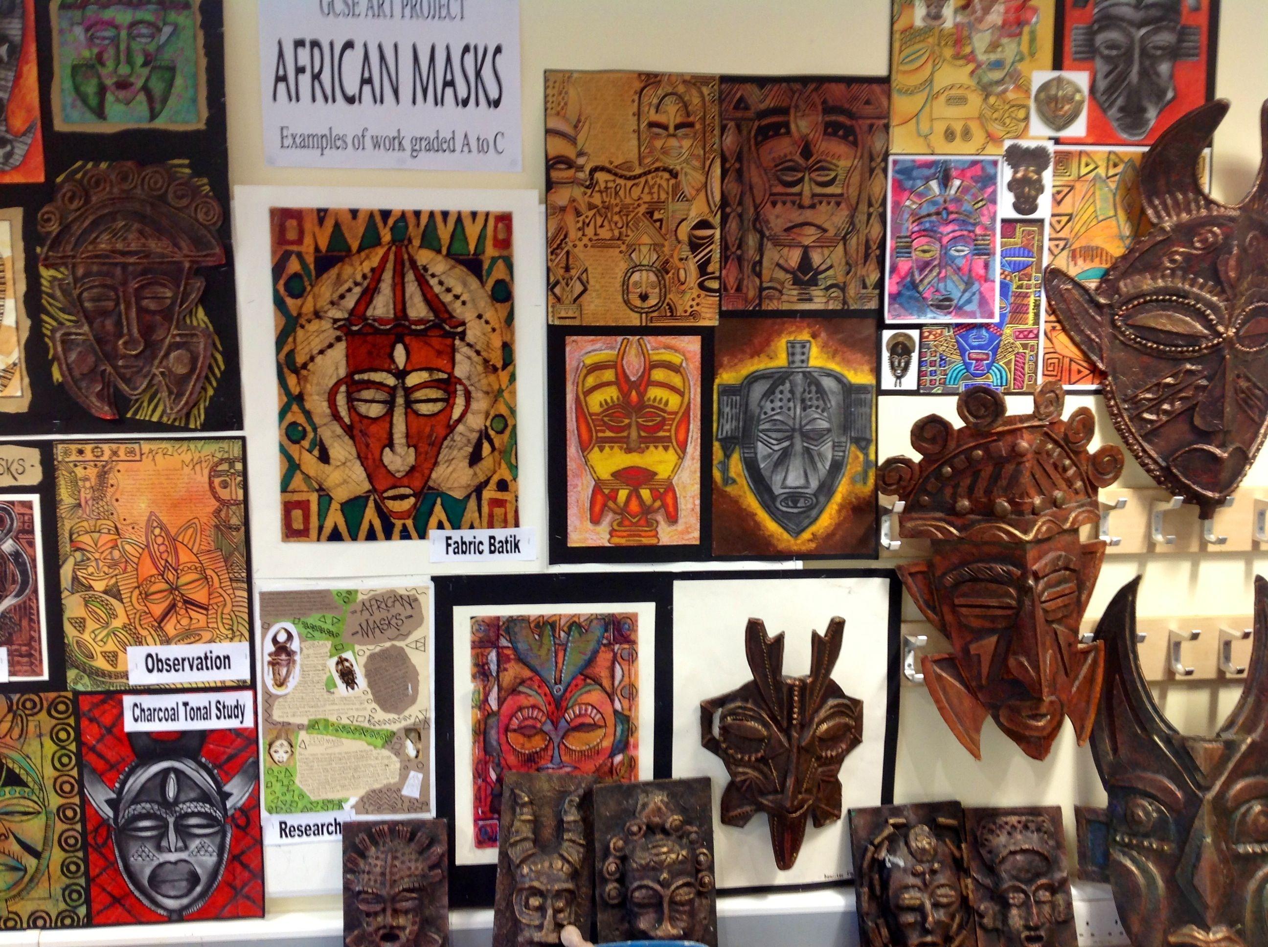 Gcse African Masks Project At Harrop Fold