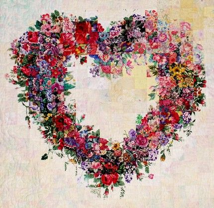 Beautiful Quilt Watercolor Heart One Day When I Have So Many