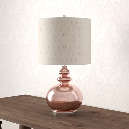 Maurice 34 Gemvara Rose Gold Table Lamp Table Lamp Gold Table Lamp Lamp