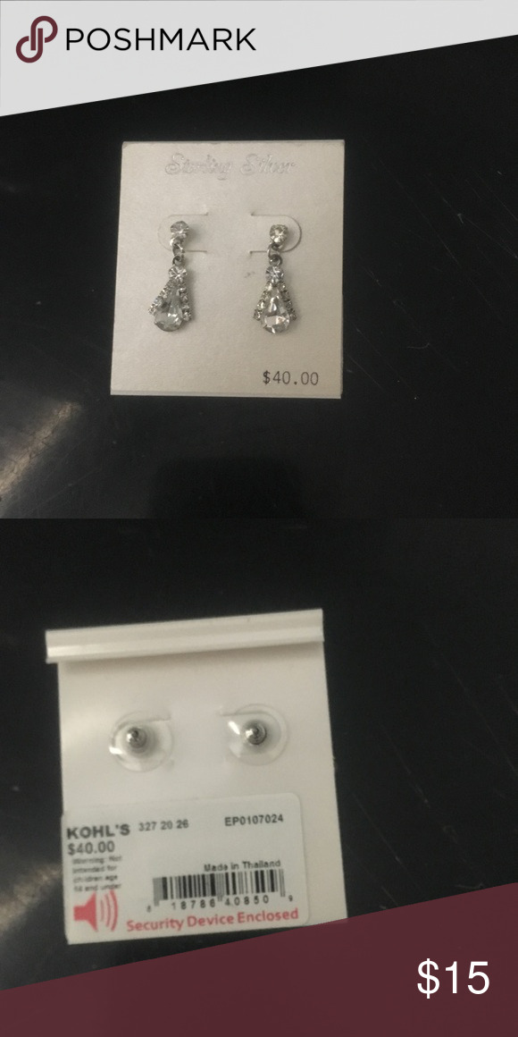 be4f1b4e0e013 NWT Sterling Silver Earrings NWT kohls Jewelry Earrings | Best ...