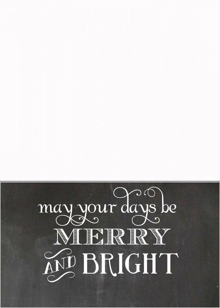 FREE Chalkboard Christmas Card Templates | Christmas card templates ...