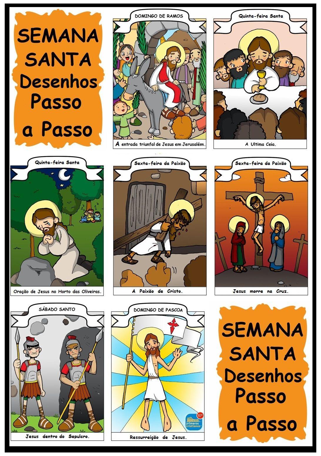 Semana Santa passo a passo em gravuras