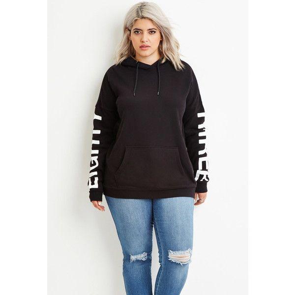 c5eee41c363 Forever 21 Plus Women s Plus Size 83 Graphic Hoodie ( 23) ❤ liked on Polyvore  featuring tops