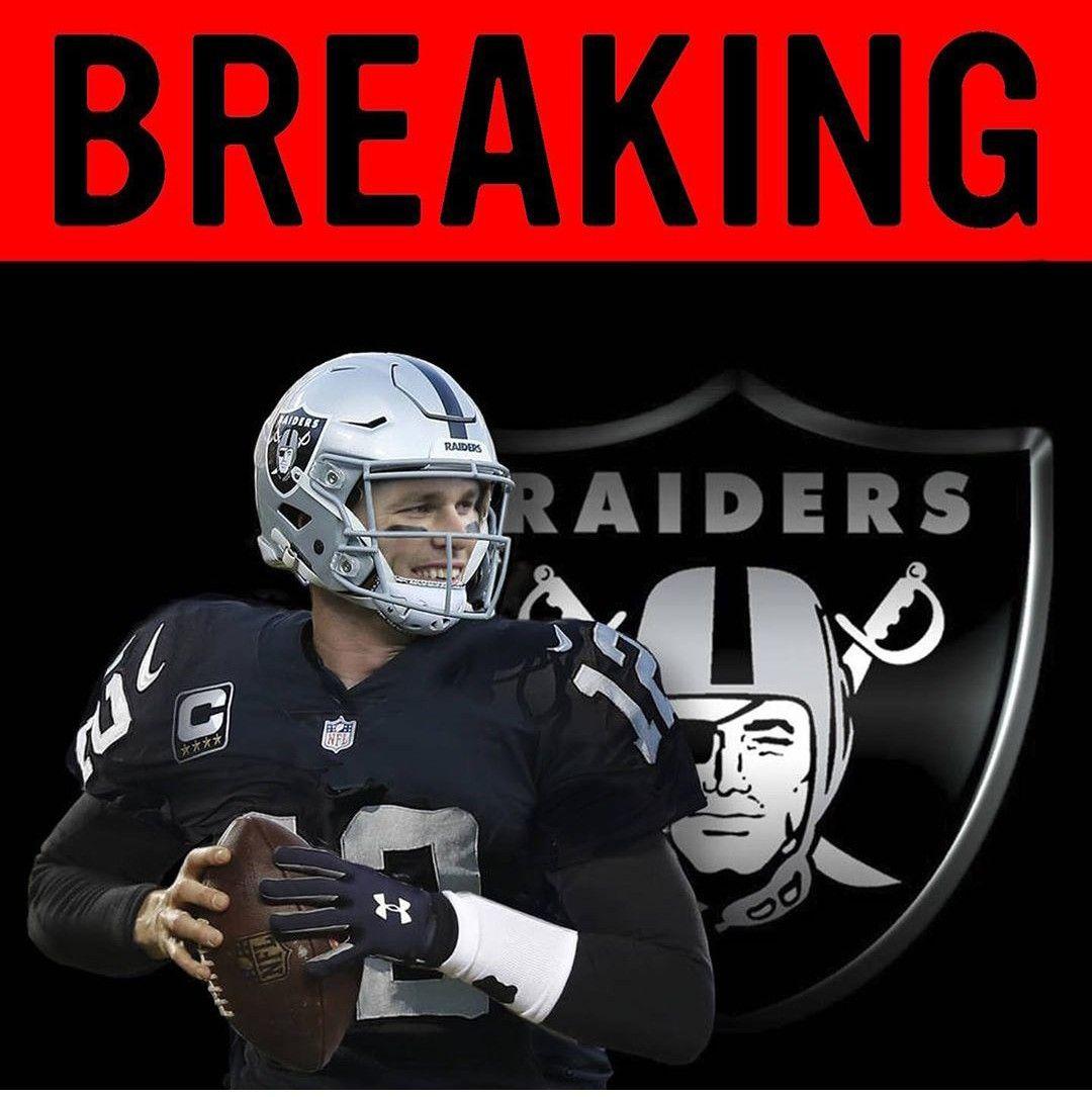 The Las Vegas Raiders Interest In Tom Brady In 2020 Raiders Football Helmets Tom Brady
