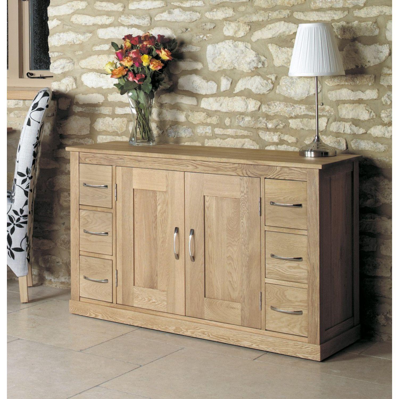 mobel solid oak console hallway bonsoni mobel oak six drawer sideboard contemporary living room furniture