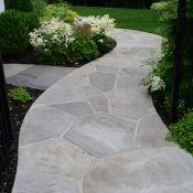 Landscape Masonary Supplies Featured Project Wyckoff Nj Flagstone Walkway Front Yard Decor Front Walkway
