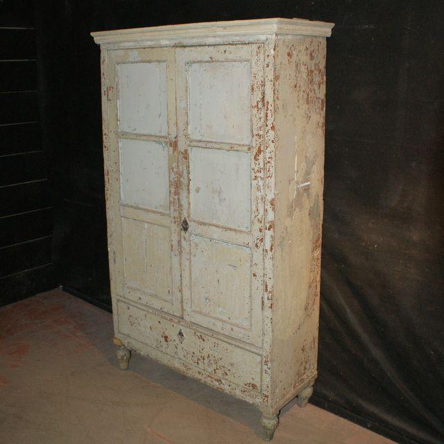 French Jam Cupboard-Original painted 2 door French Jam Cupboard. 1920. - French Jam Cupboard-Original Painted 2 Door French Jam Cupboard