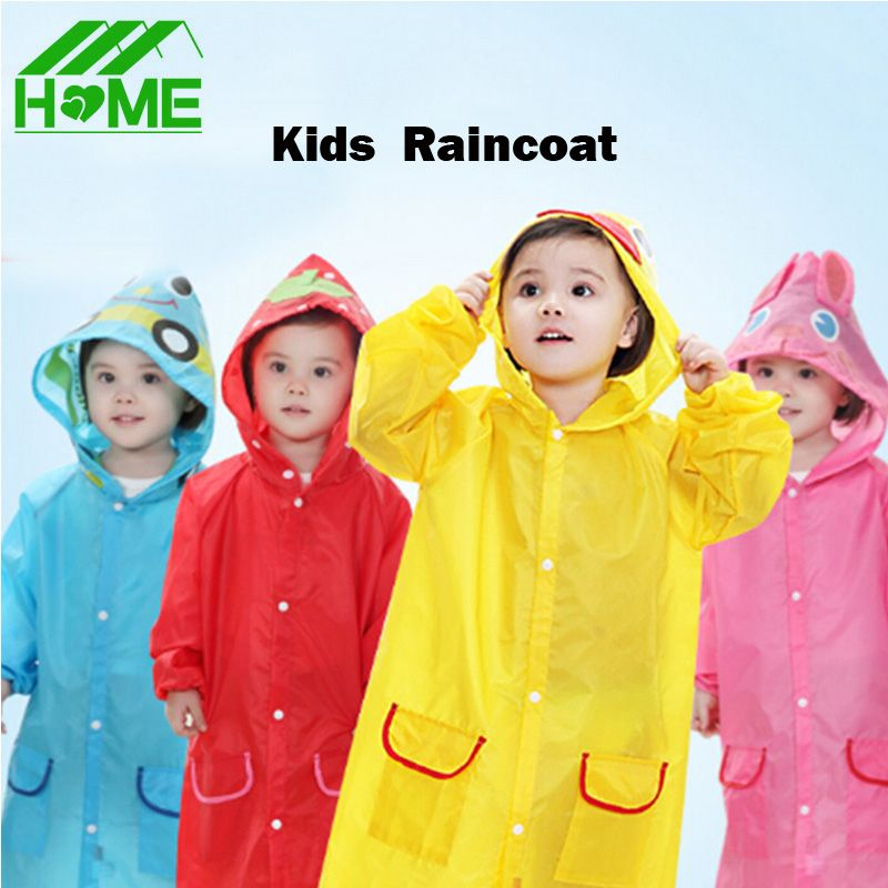 Children Animal Waterproof Poncho Raincoat Funny Cartoon