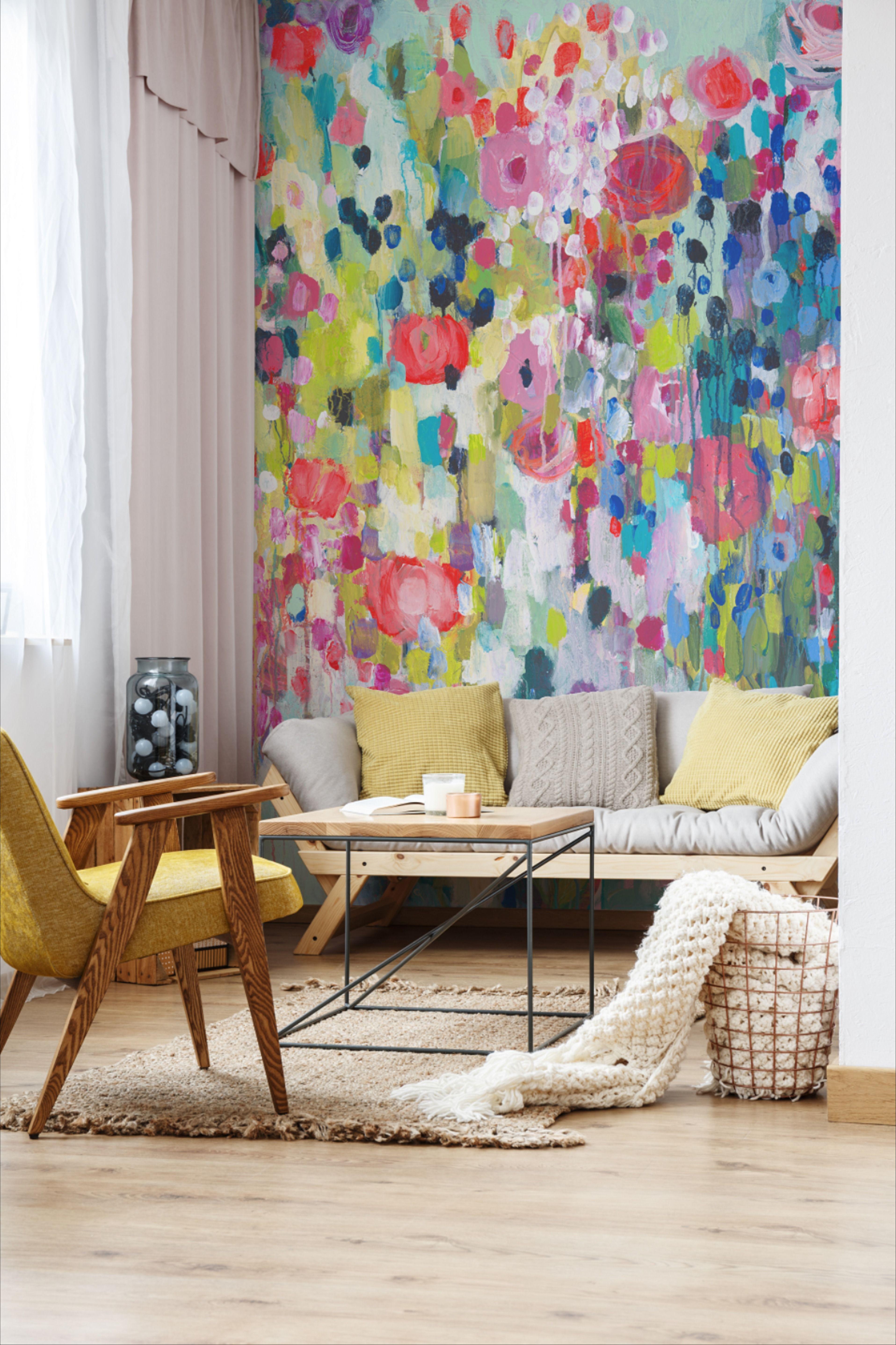 Floral Wallpaper Living Room Decor Floral Wallpaper Accent Wall Floral Wallpaper Bedroom Wallpaper Living Room Accent Wall Feature Wall Wallpaper