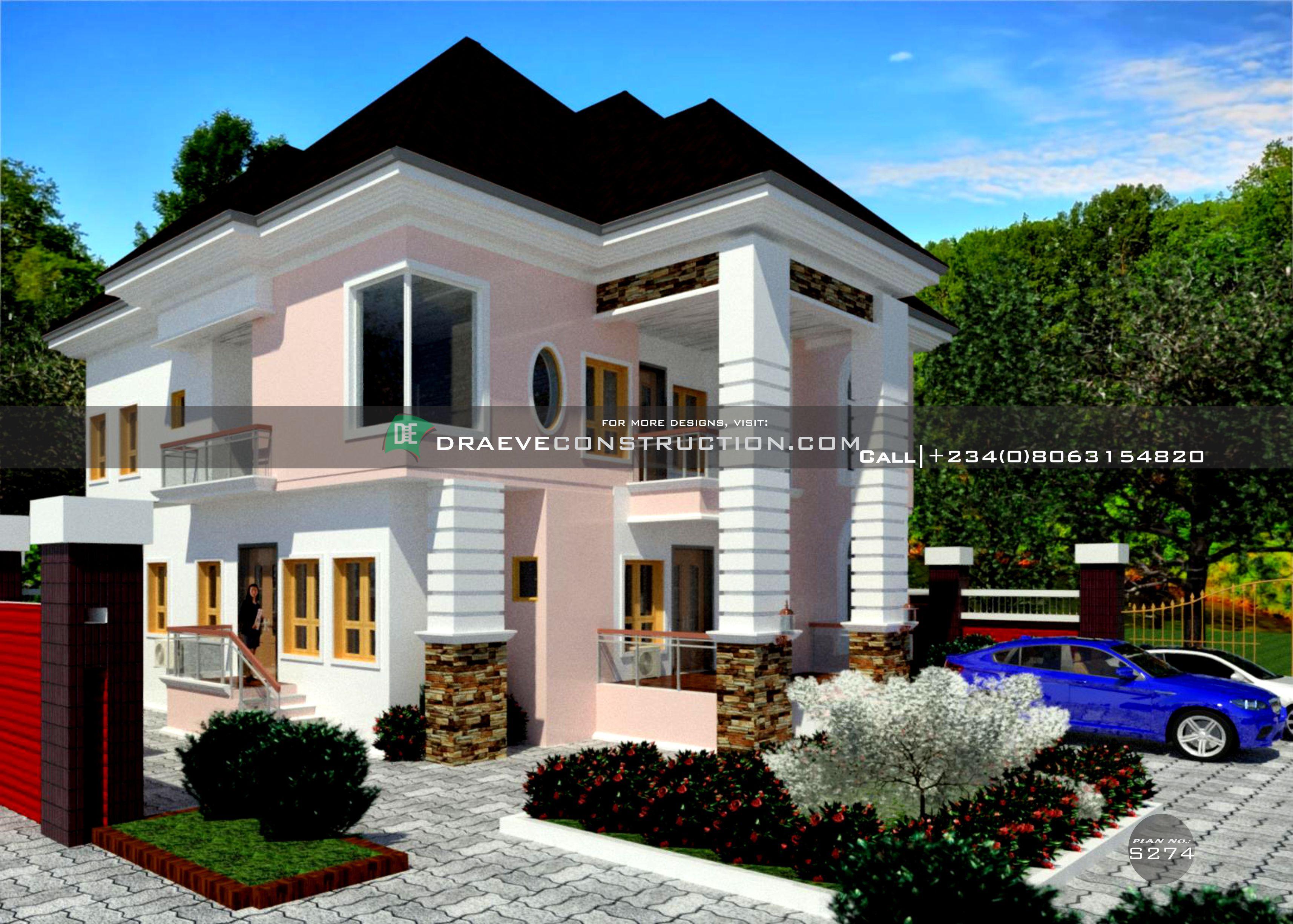 3 Bedroom Duplex Houseplan With A 1 Bedroom Flat In 2020 Duplex Design Building House Plans Designs Home Design Plans