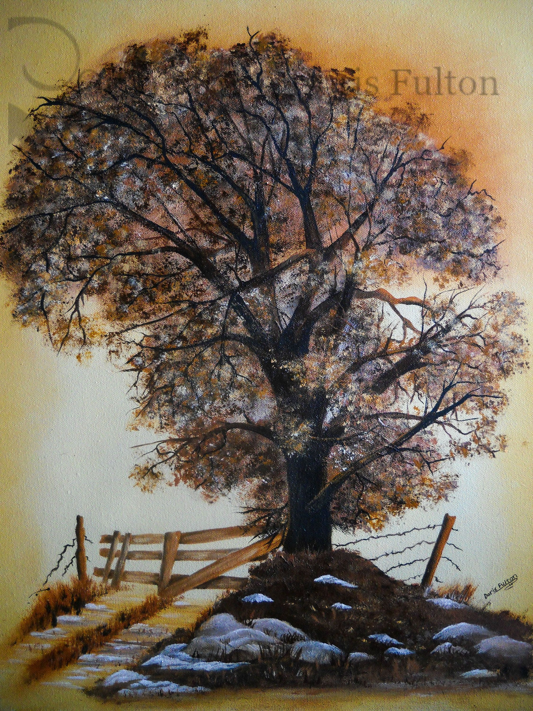 Original Painting Of Oak Tree 16x20 Canvas Country Wall Decor Oak Tree Art Tree Art Gift Nature Gift Country H Country Wall Decor Tree Wall Decor Painting