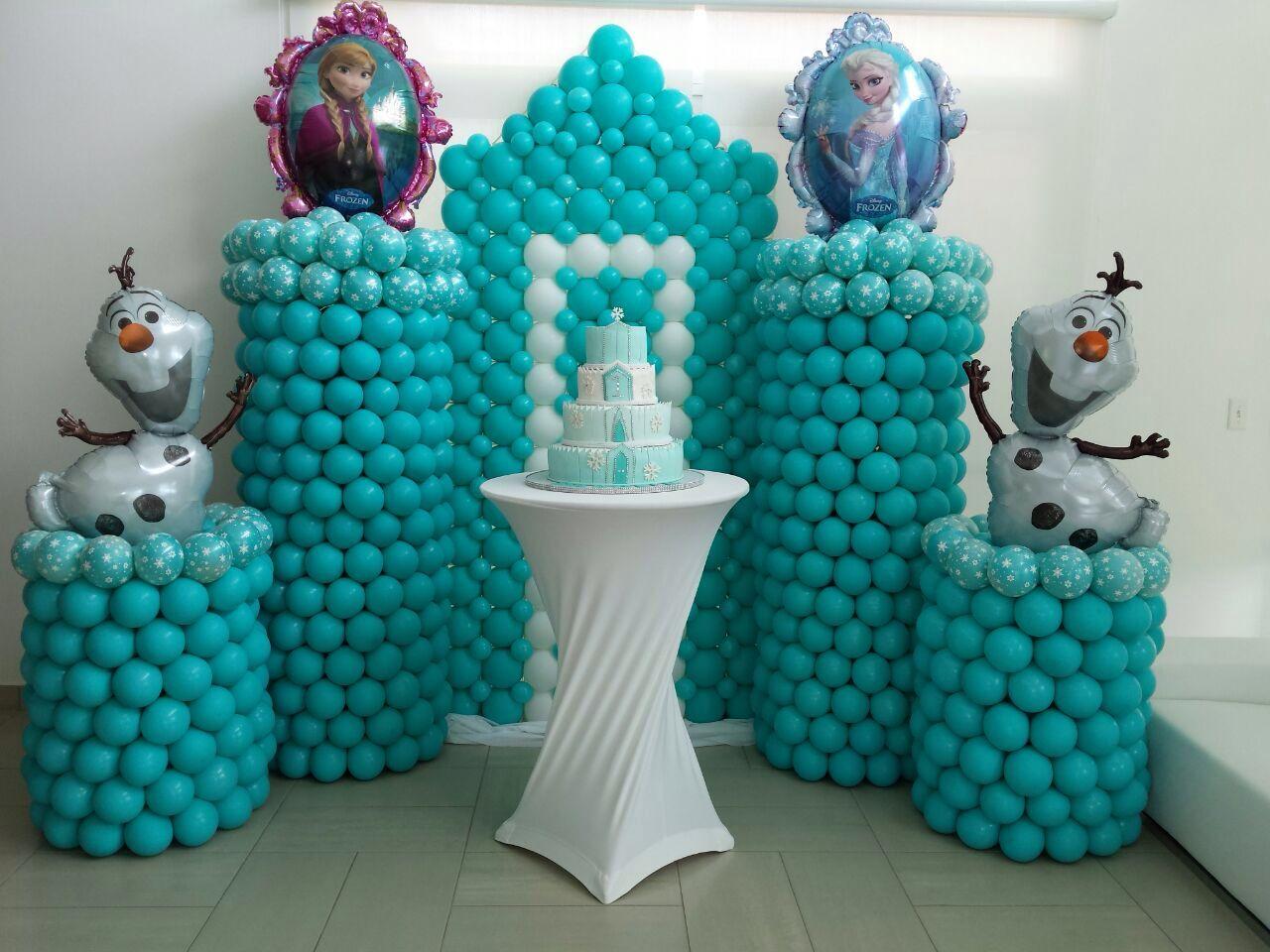 Decoraci n con globos frozen frozen balloon decoration - Decorar con globos ...