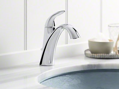 Kohler Alteo Single Handle Bathroom Sink Faucet With Optional Pop Up Drain Assembly Finish Polished Chrome Sink Faucets Bathroom Sink Faucets Faucet