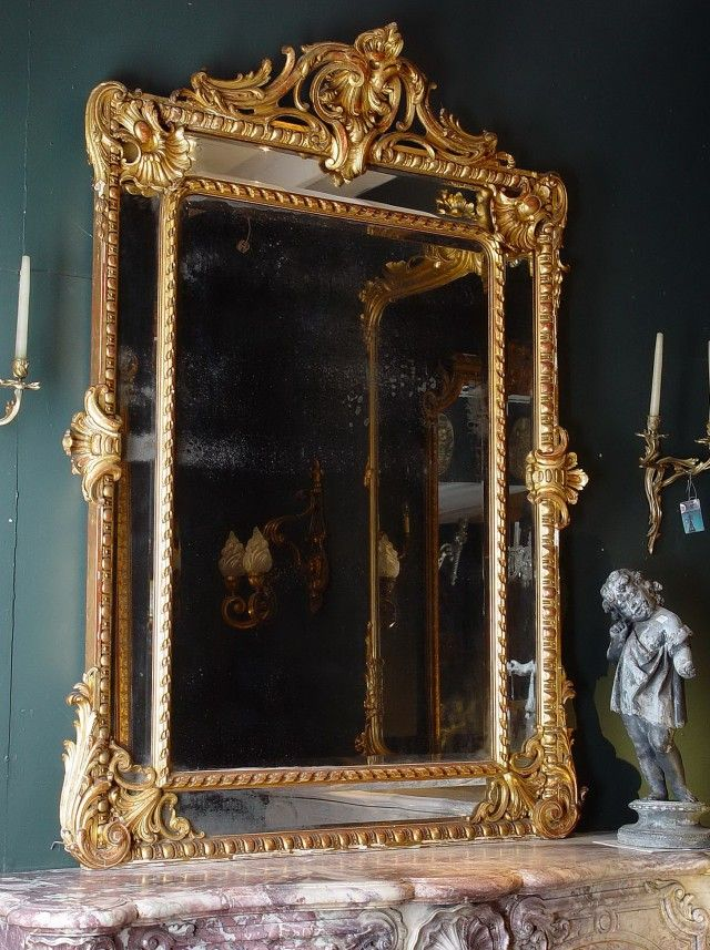 Antique Gold Frame Mirror Gold Framed Mirror Gilded Mirror Mirror Wall