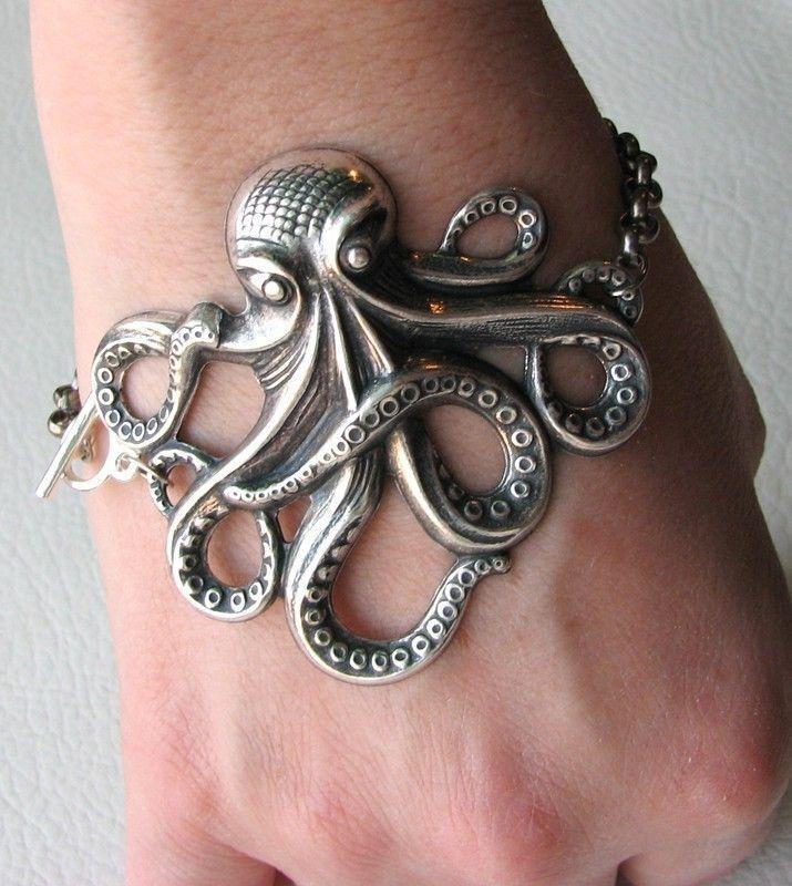 Octopus Bracelet Silver Sale 20 Off By Friendlygesture On Etsy 16 00 Octopus Bracelet Unique Jewelry Silver Bracelets