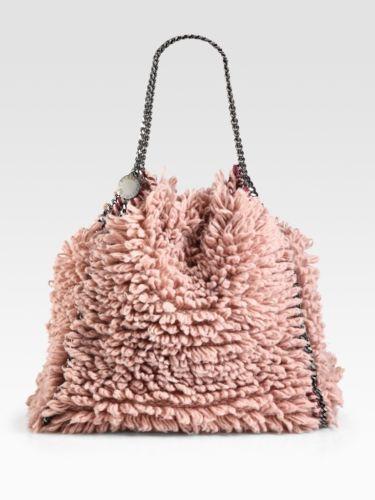 Stella McCartney Rose Wool Shag Effect Falabella Chain Strap Handbag Bag BNWT | eBay
