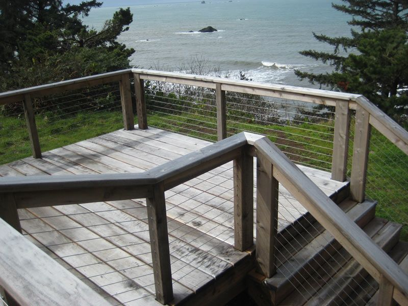 Natural Gray Port Orford Cedar Deck Modern Patio Port Orford Cedar Cedar Deck