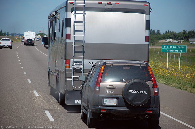 How To Tow A Car Or Trailer Behind An RV (An RVer's Best