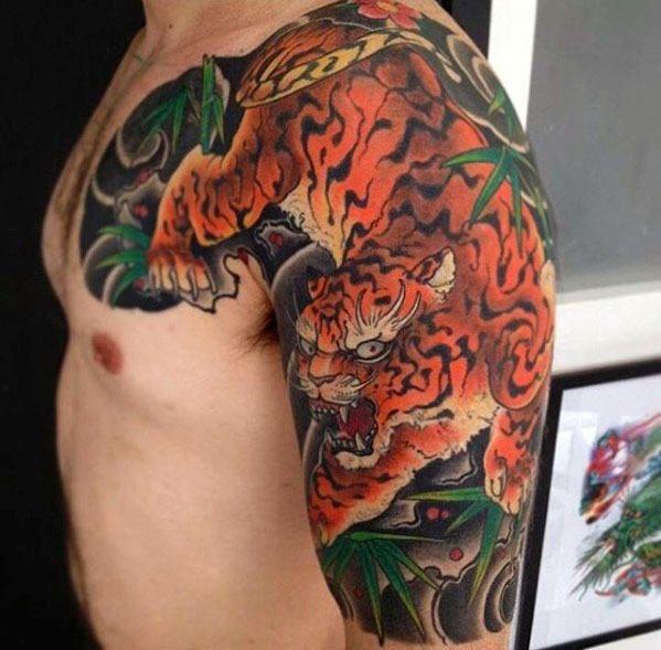 60 Japanese Half Sleeve Tattoos For Men Manly Design Ideas Sleeve Tattoos Half Sleeve Tattoos Animal Japanese Sleeve Tattoos