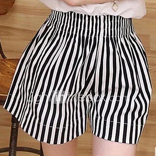 Mujer Tallas Grandes Perneras Anchas Vaqueros Pantalones A Rayas 2020 Us 8 99 Pantalones De Cuadros Pantalones Cortos Pantalones