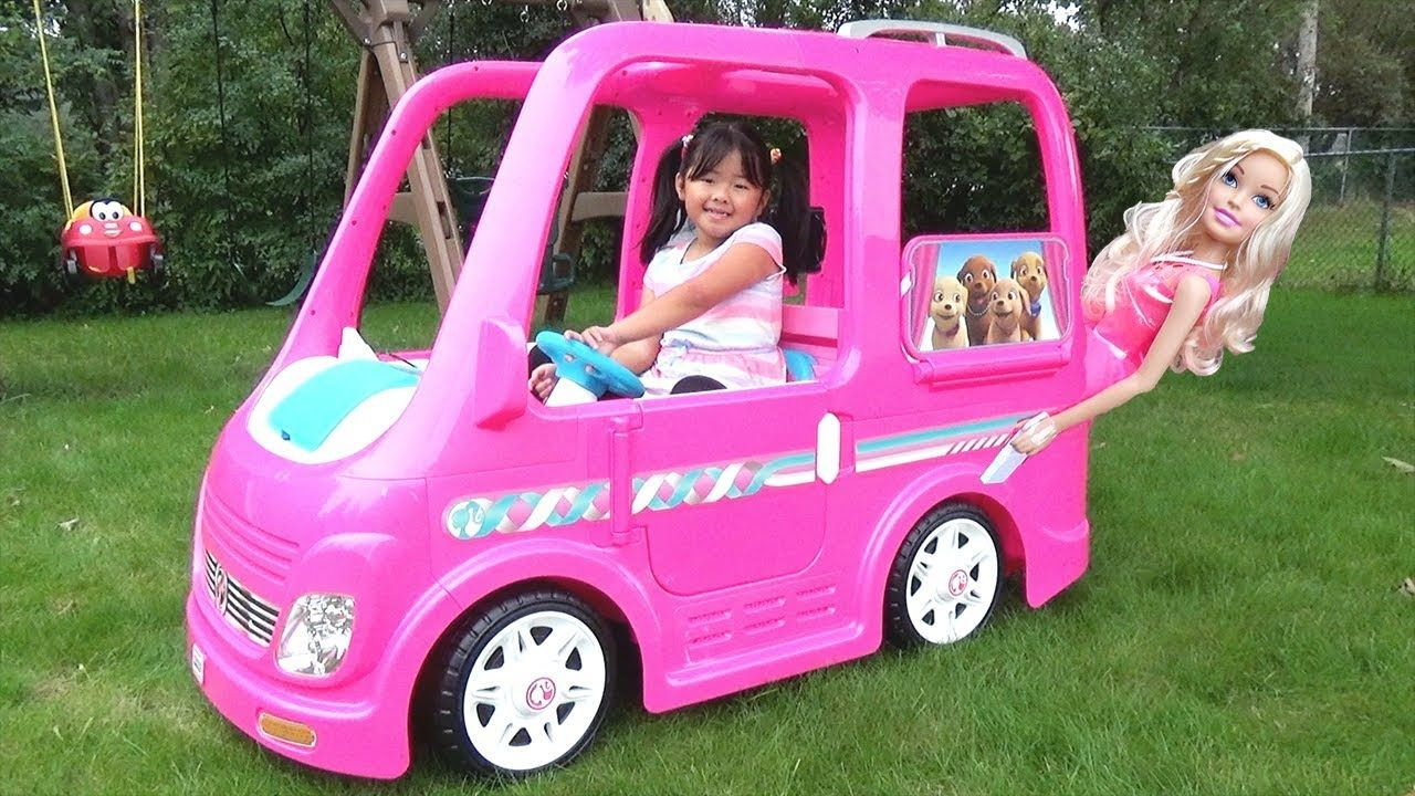 Barbie van power wheels