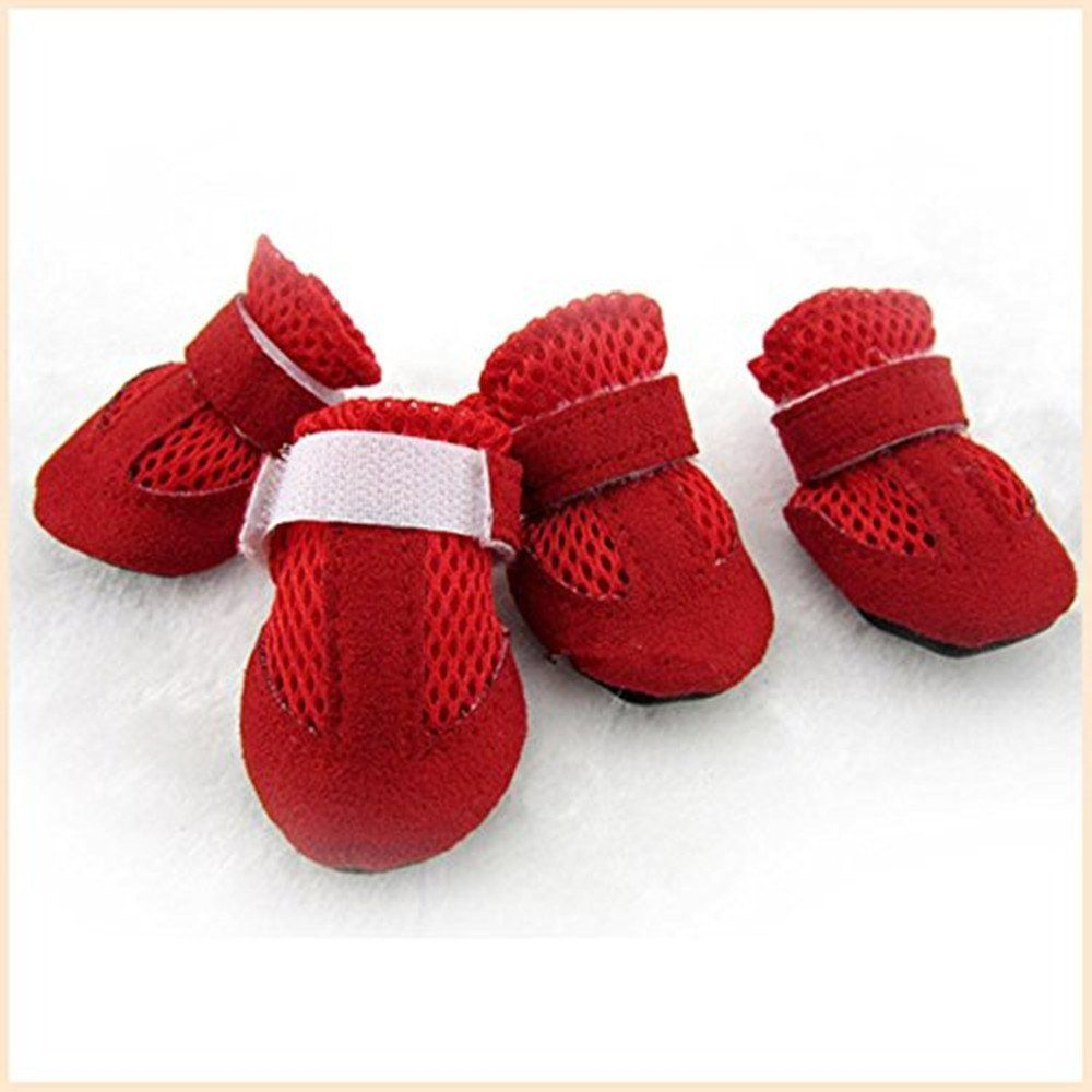 Kailian 4 Pcs Pet Doggie Mesh Shoes Breathable Boots Shoes ** Find out more about the great product at the image link. (This is an Amazon affiliate link)