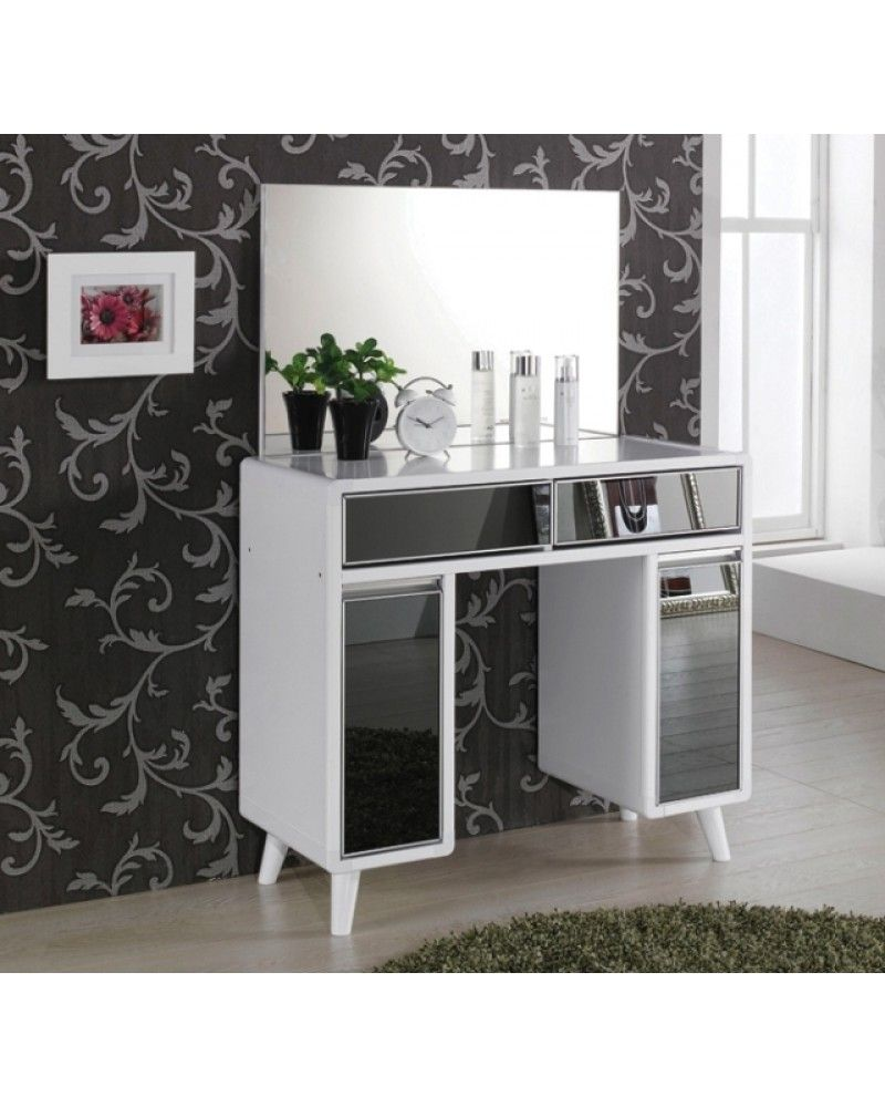 Luxury Modern White U0026 Shiny Black Dressing Table