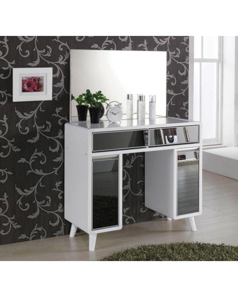 Luxury modern white shiny black dressing table whos the luxury modern white shiny black dressing table geotapseo Choice Image