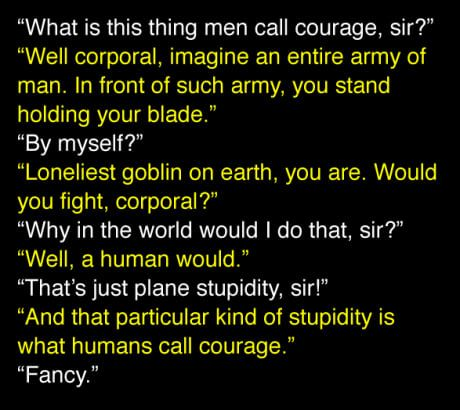 About courage