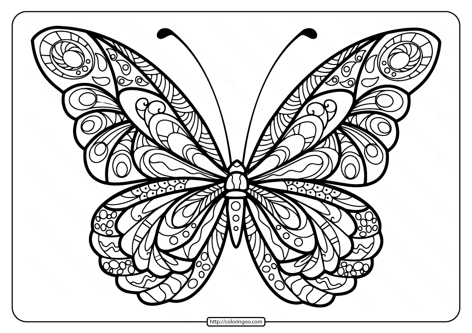 Printable Butterfly Mandala Pdf Coloring Pages 41 1 Butterfly Coloring Page Butterfly Mandala Butterfly Printable