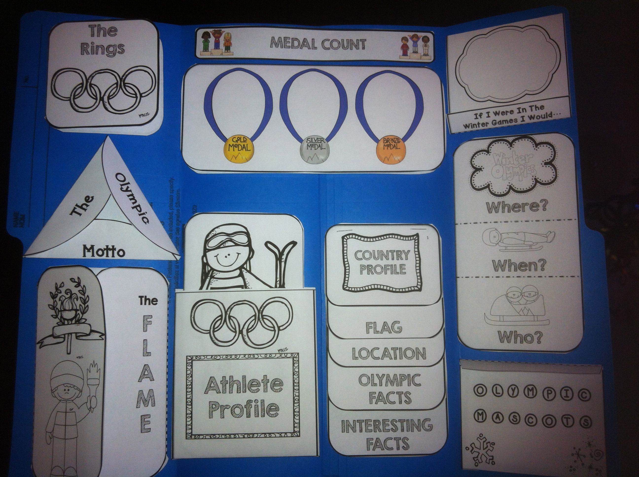 Winter games lapbook for a fun and engaging way to teach your ...
