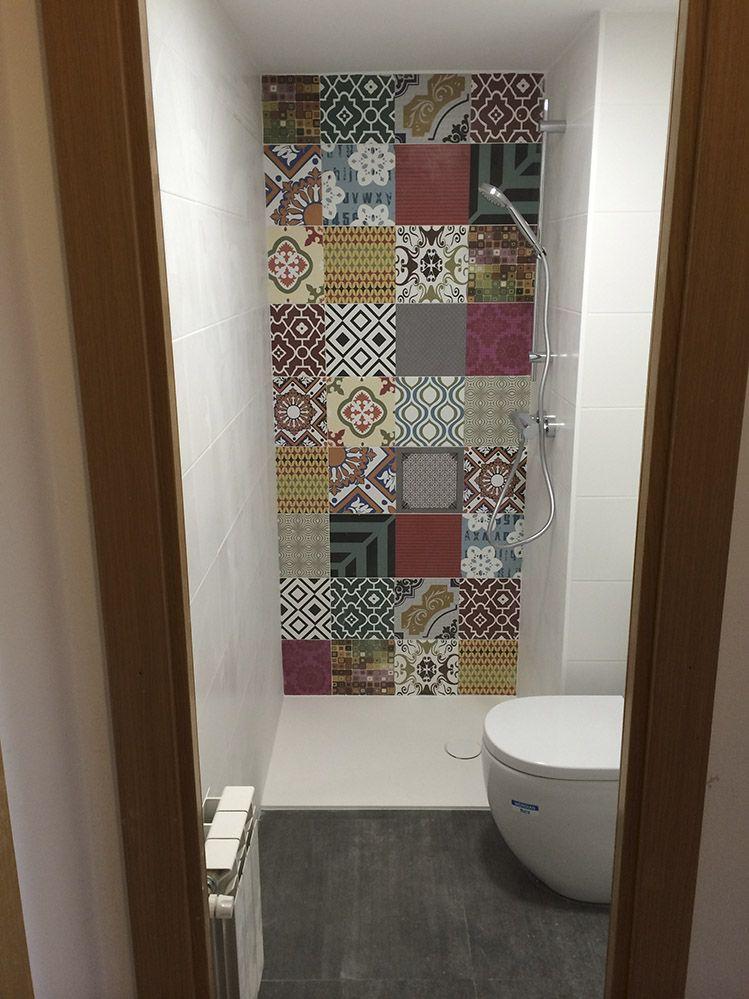 baño reformado con plato de ducha pequeño moderno | Baños reformados ...