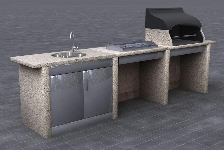 Cucine da esterno cucina da esterno modello lineare 3 for Cucine da esterno prefabbricate