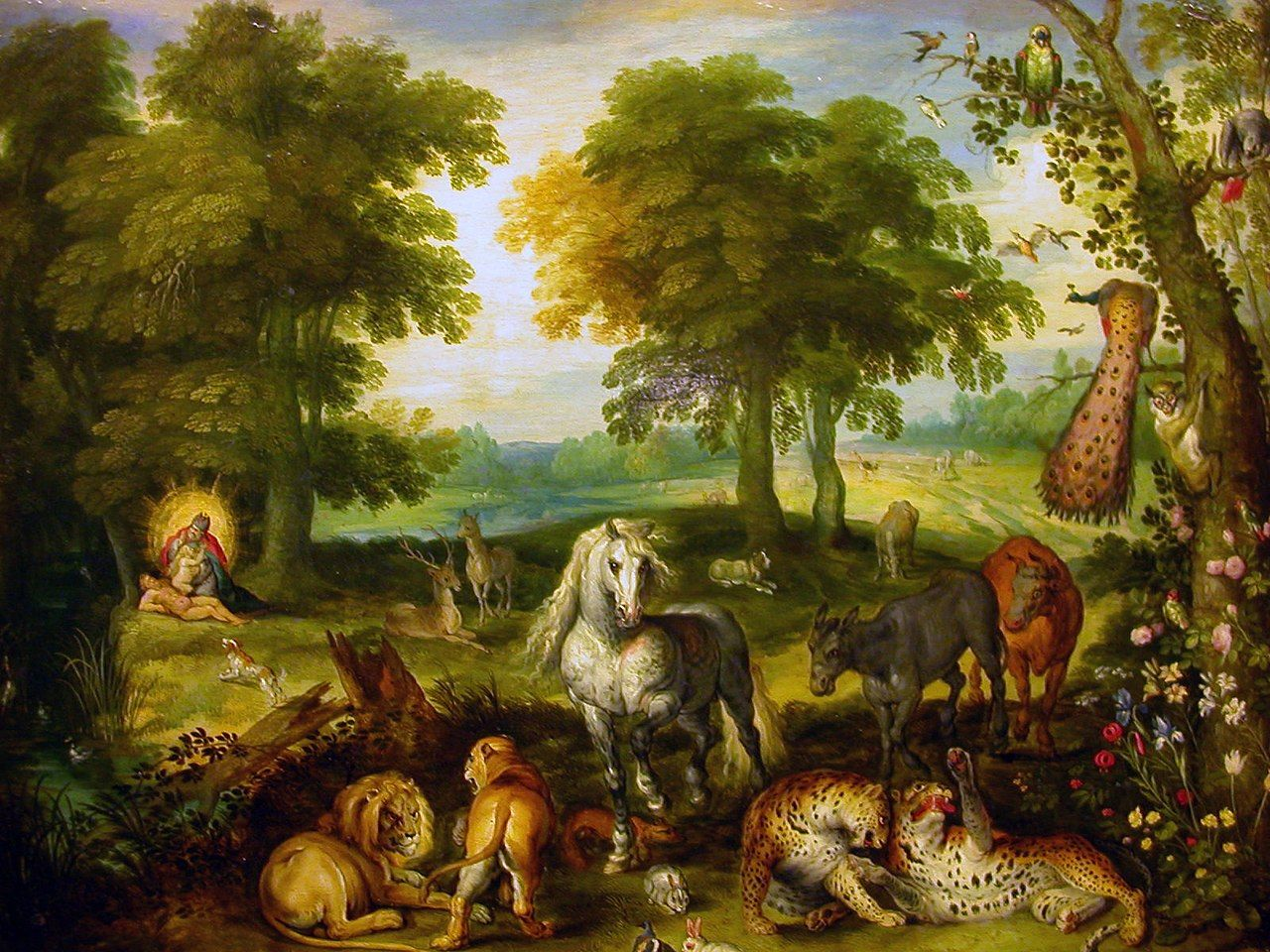 The Garden of Eden with the Creation of Eve (Jan Brueghel the ...