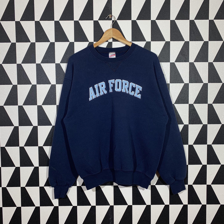 Vintage 90s Air Force Sweatshirt Crewneck Air Force Sweater Etsy In 2021 Air Force Sweatshirt Sweatshirts Sweaters [ 3000 x 3000 Pixel ]