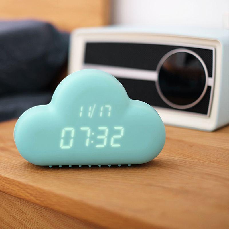 Mignon Cyan nuage forme reloj despertador contrôle du son numérique réveil dans Réveils de Maison & Jardin sur AliExpress.com | Alibaba Group