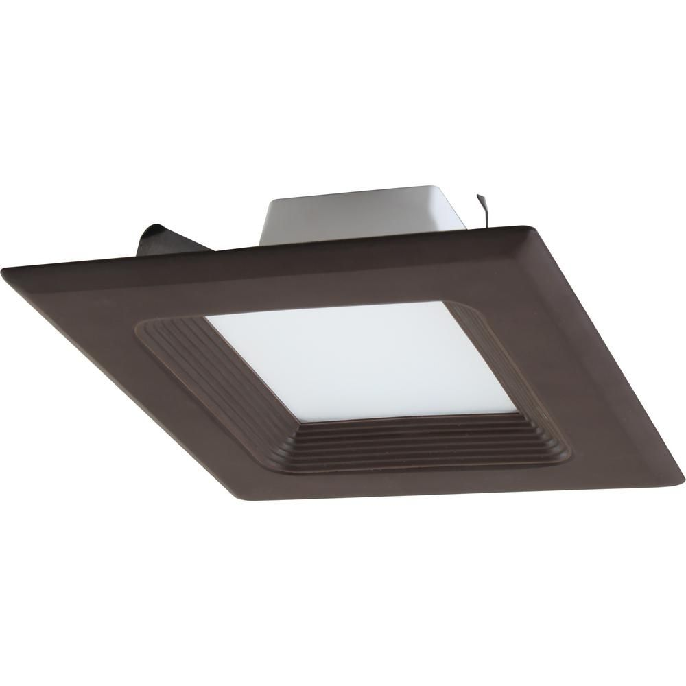 Volume Lighting 1 Light Indoor Outdoor 6 In 3000k Antique Bronze Integrated Led Recessed Retrofit Downlight And Square Trim And Lens V8533 79 Downlights Recessed Downlights Led Tail Lights