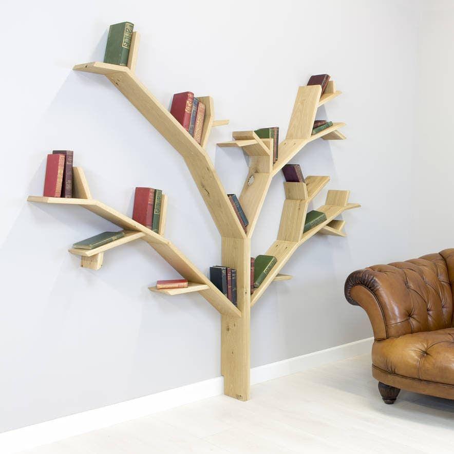 Die Windgepeitschten Eiche Bucherregal Mit Bildern Kreative Bucherregale Bucherregal Design Baum Bucherregal