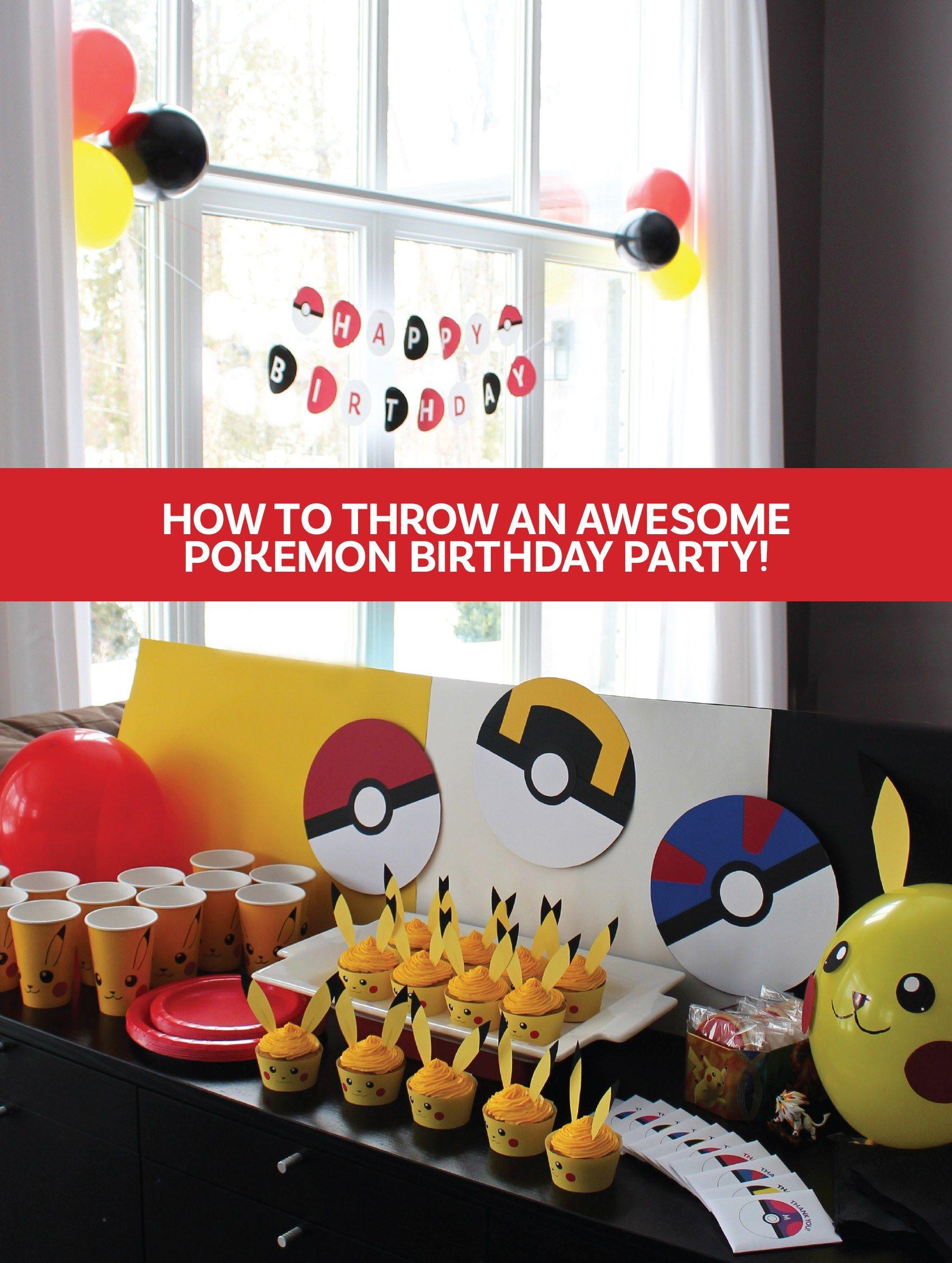 Pokemon Birthday Party Party Ideas Pinterest