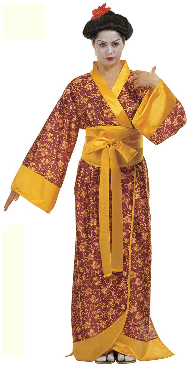 Japanese Lady Oriental Chinese Kimono Far Eastern Ladies Fancy Dress Costume