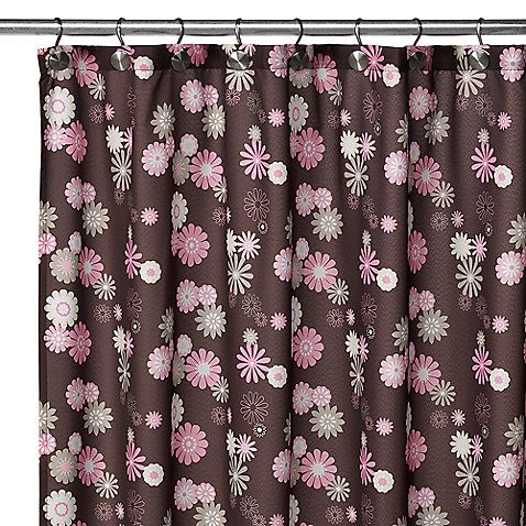 Watershed Single Solution 2 In 1 Starburst Fabric Shower Curtain