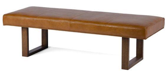 Prime Brown Sugar Genuine Leather Upholstered Bench Ottoman Machost Co Dining Chair Design Ideas Machostcouk