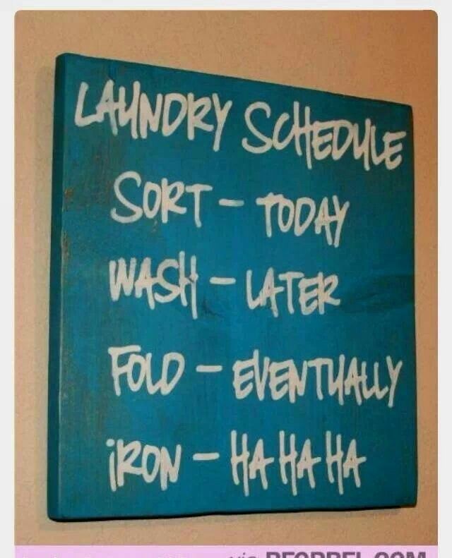 This is my laundary schedule lol