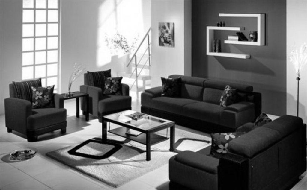 nice red black and white living room set with regard to ...