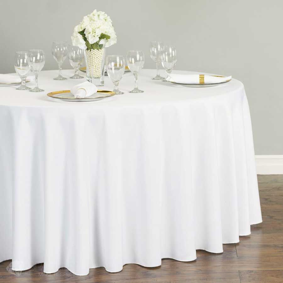 The 120 Inch Round Polyester Tablecloth Is Perfect For 60 Inch