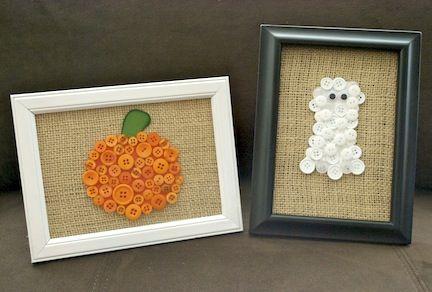 Button crafts I heart Halloween Pinterest Button crafts, Craft - how to make halloween decorations for kids